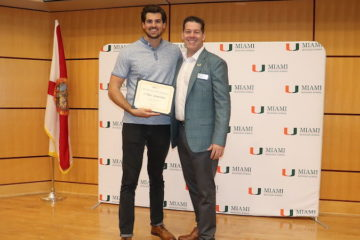 Dominic Natalizio wins the 2019 University of Miami Business Plan Competition