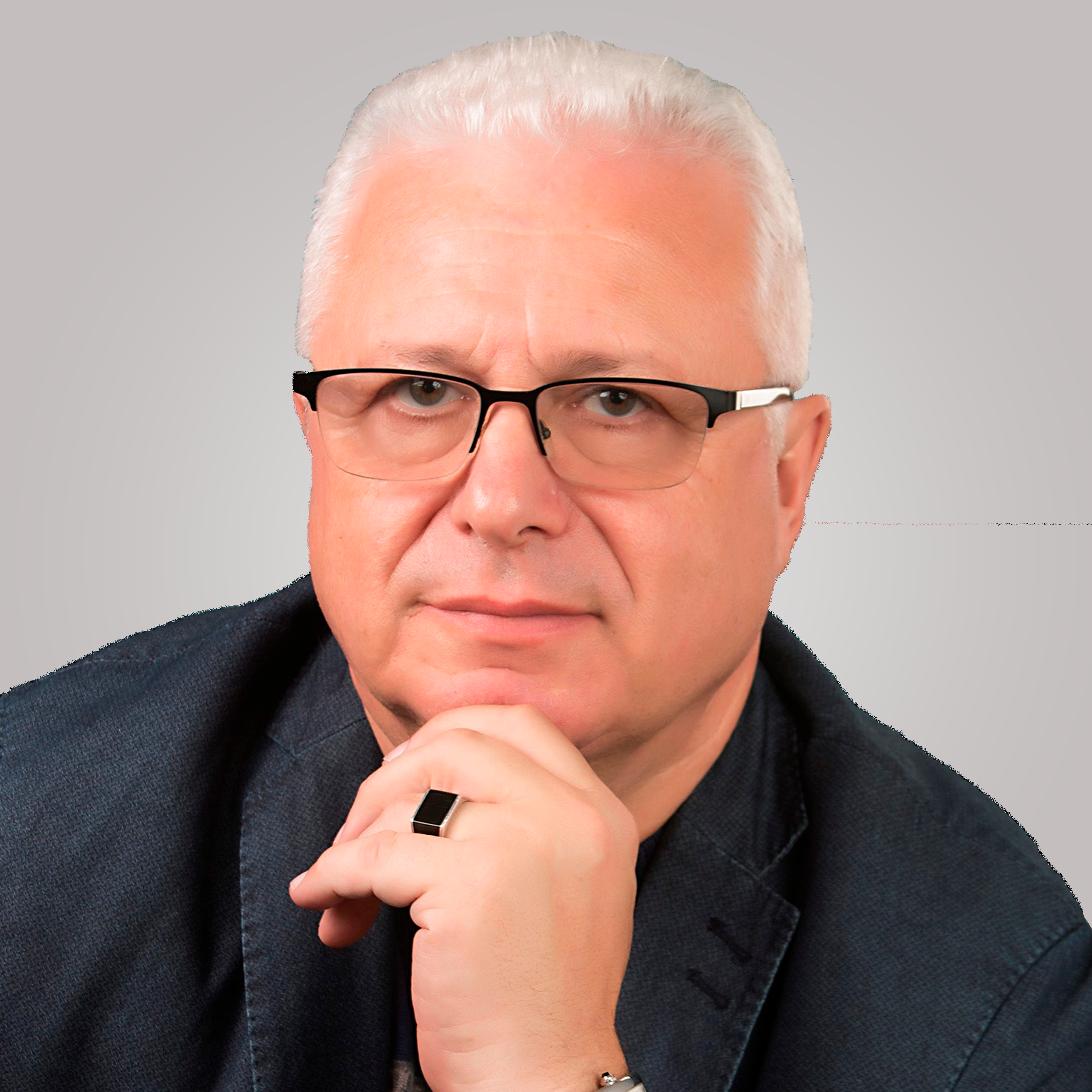 A headshot of Dr. Lazar Finker, the director of the Finker-Frenkel Foundation.