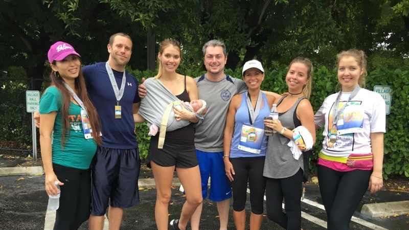 The Finker-Frenkel family poses at the 2016 Bal Harbour 5k