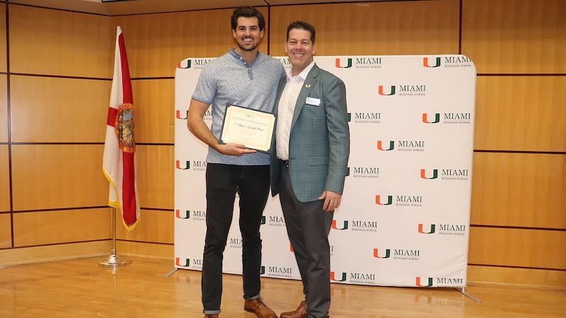 Dominic Natalizio wins the 2019 University of Miami Business Plan Competition
